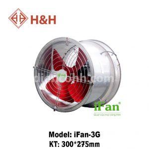 Quạt hút thông gió tròn mặt lưới iFan TA-3G