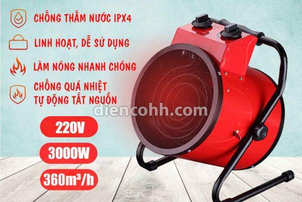 Máy sưởi ấm Quạt sấy nóng 3000W Đà Nẵng