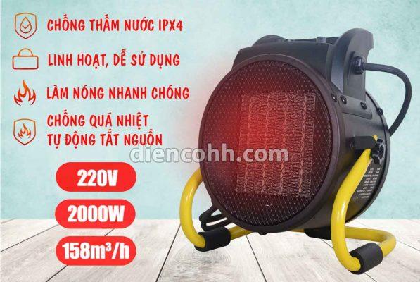 Máy sưởi ấm Quạt sấy nóng 2000W Đà Nẵng