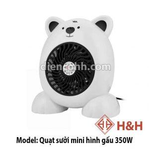 Máy sưởi ấm Mini hình gấu 350W